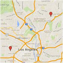 Map: N Avenue 58 to Alvarado Street
