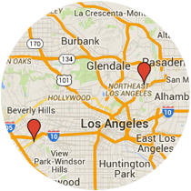 Map: Washington Boulevard to Figueroa Street