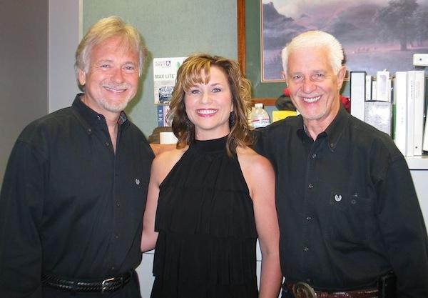 Jennifer Keel Faughn with Buckaroos, Jim Shaw and Doyle Curtsinger