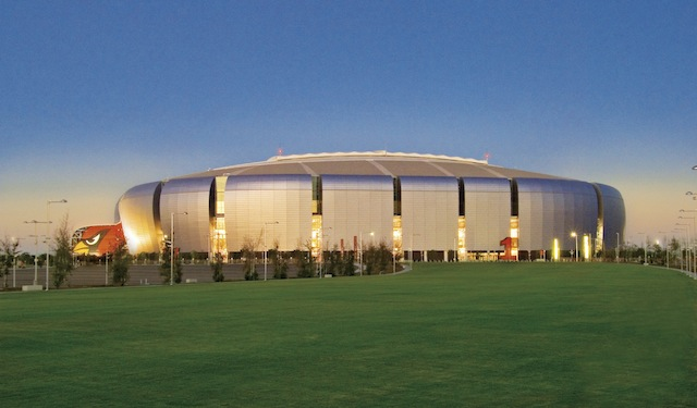 The University of Phoenix Stadium Stadium the home of the Arizona Cardinals NFL team in Glendale