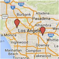 Map: Garfield Avenue to La Cienega Boulevard