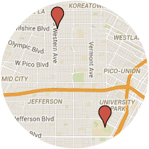 Map: Oxford Avenue to Watt Way