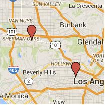 Map: Normandie Avenue to Ventura Boulevard
