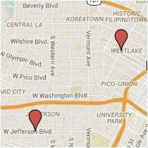 Map: Jefferson Boulevard to Eighth Street