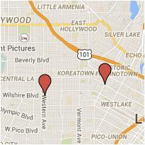 Map: Rampart Boulevard to Western Avenue