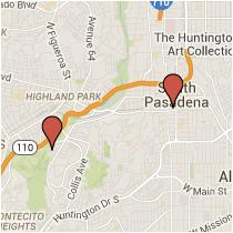 Map: Fair Oaks Avenue to Bushnell Way
