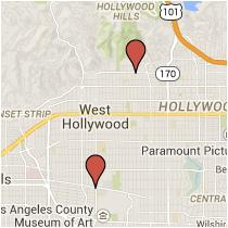 Map: Third Street to Hollywood Boulevard