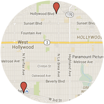 Map: Third Street to Hollywood Boulevard