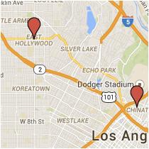 Map: Alpine Street to Santa Monica Boulevard