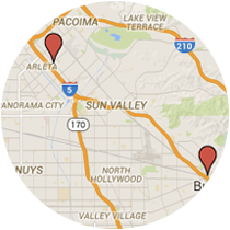 Map: Burbank Boulevard to Terra Bella Street