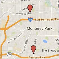 Map: Riggin Street to Valley Boulevard