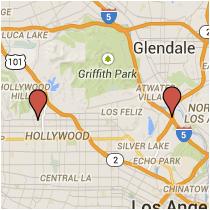 Map: Riverside Drive to Orange Drive