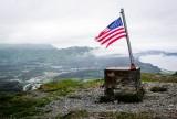 flag on mountain