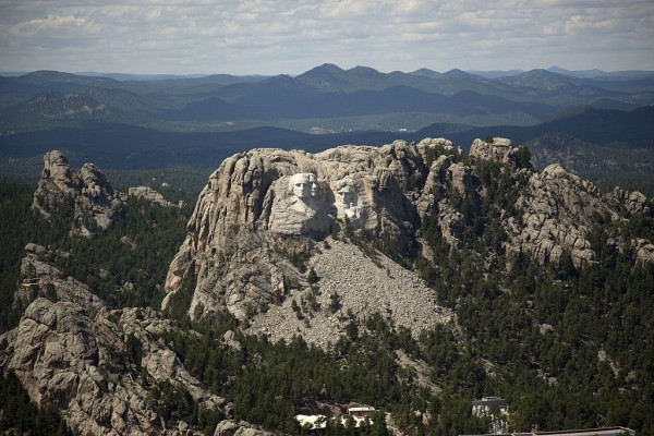 The Mt. Rushmore National Memorial by Gutzon Borglum