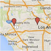 Map: Westwood Boulevard to Main Street