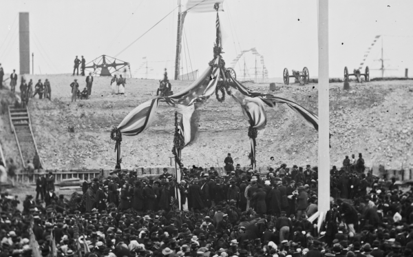 On April 14, 1865, the U.S. flag was raised again over Fort Sumter
