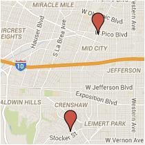 Map: Don Felipe Drive to Pico Boulevard