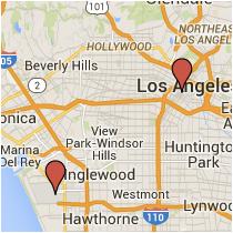 Map: Spring Street to Century Boulevard