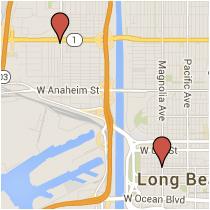 Map: Santa Fe Avenue to Magnolia Avenue