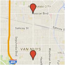Map: Aetna Street to Roscoe Boulevard
