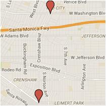 Map: MLK Jr. Blvd. to Washington Blvd.