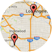 Map: Redondo Avenue to Washington Boulevard