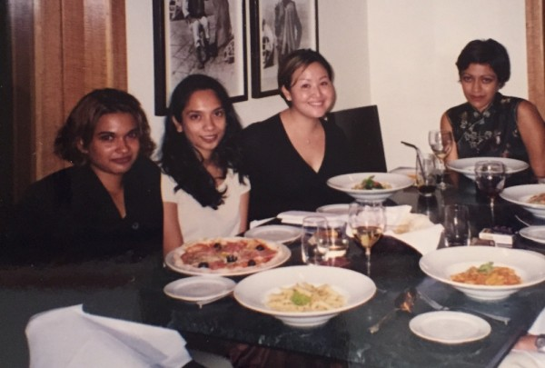 The author (second from the right) with co-workers in Kuala Lumpur.