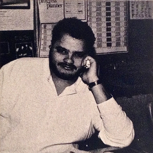 Yearbook photo of the author while teaching at Locke High School