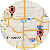 Map: Acacia Street to Long Beach Boulevard