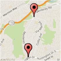 Map: Huntington Road to Avenue 60