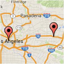 Map: Hill Street to Santa Anita Avenue