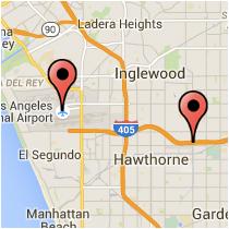 Map: World Way to Crenshaw Boulevard