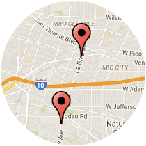 Map: Venice Boulevard to Coliseum Street