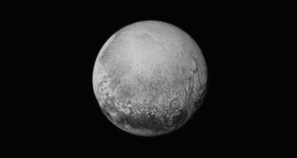Pluto, as seen from NASA's New Horizons on July 11, 2015