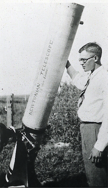 Tombaugh and his telescope