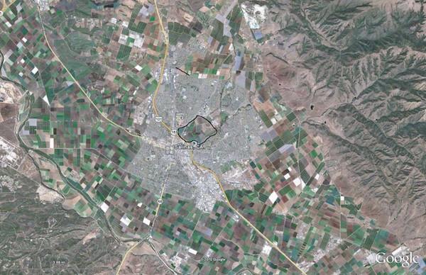 City of Salinas with Carr Lake