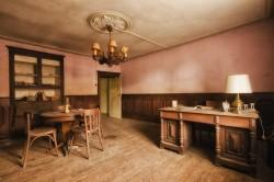 Evenson inside father's house
