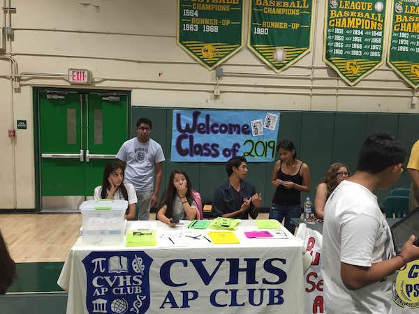 A Coachella Valley High School AP Club welcome event for next year's freshmen