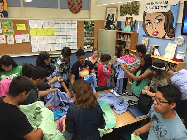 A recent Coachella Valley High School AP Club meeting