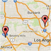 Map: Fletcher Drive to Sunset Boulevard