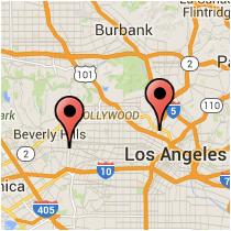 Map: Alvarado Street to La Cienega Boulevard