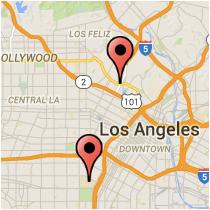Map: Sunset Boulevard to Jefferson Boulevard