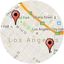 Map: Grand Avenue to Central Avenue