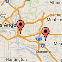 Map: Whittier Boulevard to Soto Street