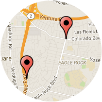 Map: Eagle Rock Boulevard to Wawona Street