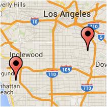 Map: Florence Avenue to Douglas Street
