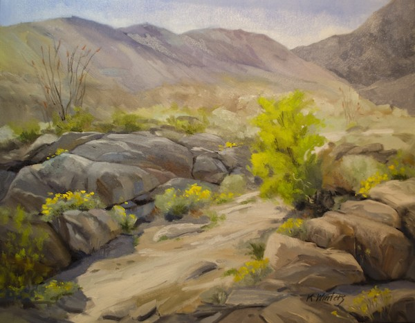A painting of Anza Borrego State Park