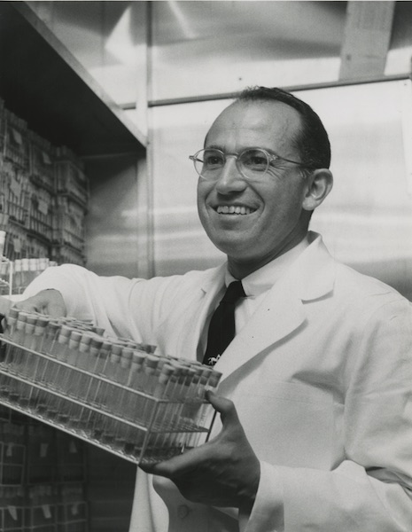 Jonas Salk in his laboratory, 1954.