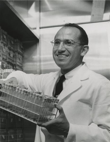 Jonas Salk in his laboratory, 1954.