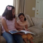 Hernandez Lara sisters reading
